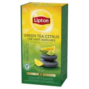 Te Lipton Green Tea Citrus, påse, 25st