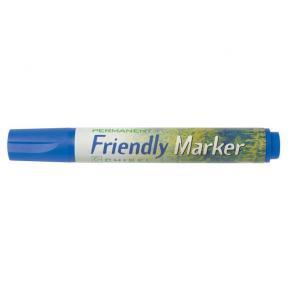 Märkpenna Friendly Marker Blå, sned, 2-5mm, 10st