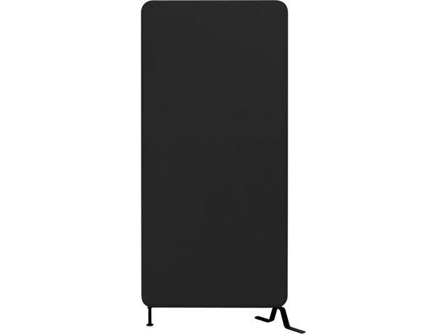 Golvskärm Softline Svart, 136x80cm