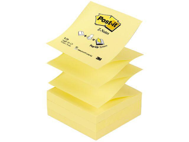 Post-It Z-block Gul, 76x76mm, 12st 12st