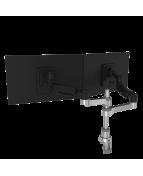 R-Go Caparo 4 Twin Monitor Arm, gas spring, 3-9 kg, dynamic,