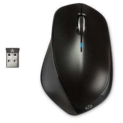 HP x4500 - Mus - laser - trådlös - svart metall