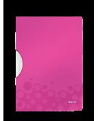 Klämmapp LEITZ ColorClip WOW PP Plast A4, 30ark, cerise
