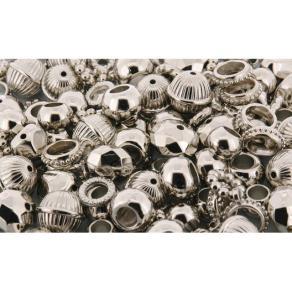 Plastpärlor Metallic, 200/fp