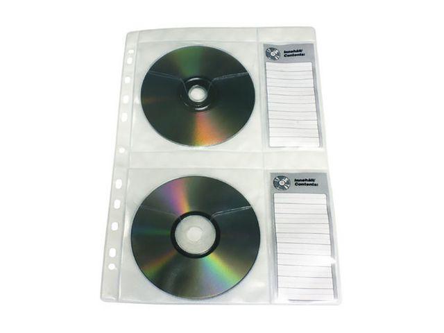 CD-ficka A4, för 4st skivor, 5/fp