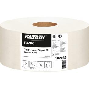 Toalettpapper KATRIN Basic Gigant M, 1-lager, 435m, 6/fp