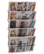 Tidningsställ tråd 5-fack  sva