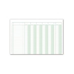 Bokföringsbok 366, 380x250mm, 11D 5E kolumner, 48 sidor