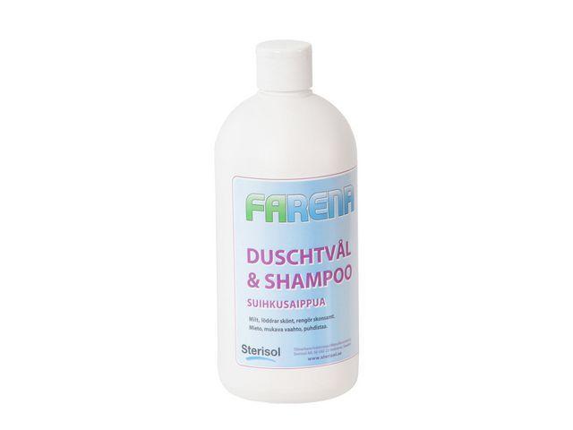 Duschtvål/Schampo Farena Mild, 750ml