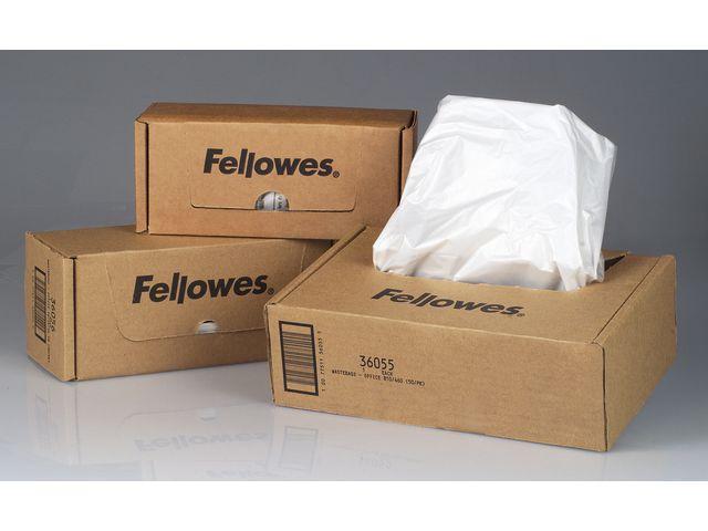 Avfallssäckar Dokumentförstörare FELLOWES Plast 148L, 50/fp