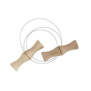 Lerskärare, trä/stål, rostfri, 5/fp