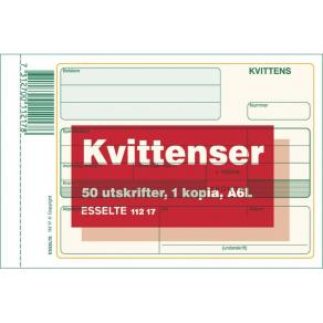 Kvittens A6 Liggande med kopia, 2x50 blad