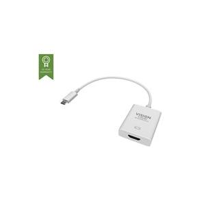 VISION Professional installation-grade USB-C to HDMI adapter