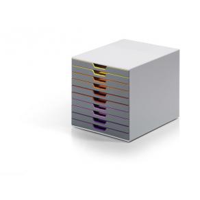 Blankettbox DURABLE Varicolor, 10 lådor