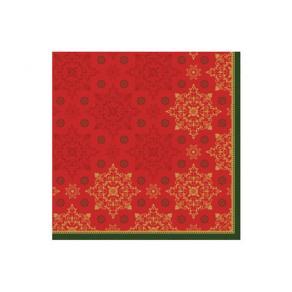 Servett 3-lags 40x40cm Xmas röd 250/FP