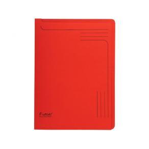 Aktmapp EXACOMPTA 290g röd, 25/fp