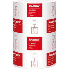 Torkrulle KATRIN Classic S1, centermatad, 1-lag, Ø13cm, 116m/rl