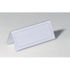 Bordsskylt Durable, dubbelsidig, 150x61mm, 25/fp