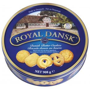 Kakor Butter Cookies Royal Dansk, plåtburk, 908g