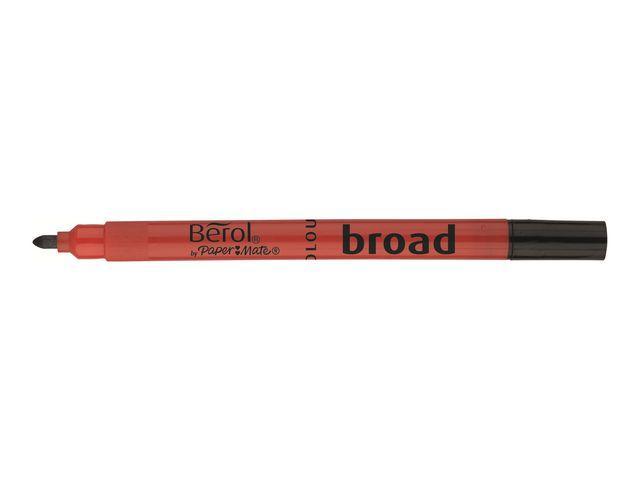 Fiberpenna BEROL Storpack Colourbroad, 12 färger, 288/fp