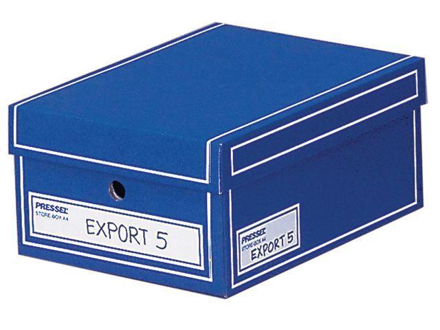Arkivbox med lock A4 350x255x155mm, Blå, 10st
