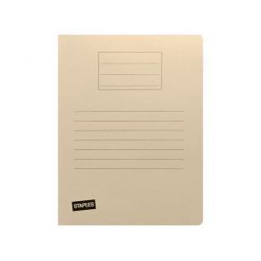 Mapp STAPLES 3-klaff 250g A4 beige
