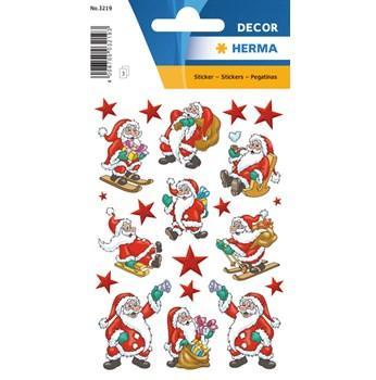 Herma stickers Decor jultomten (3) 10st