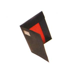 Snoddmapp Kartong A3, 3-klaff, visitkortsficka, Svart