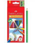 Färgp. FABER-CASTELL Triangular 10/FP