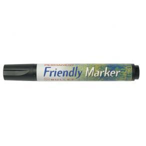 Märkpenna Friendly Marker Svart, konisk, 1mm, 10st
