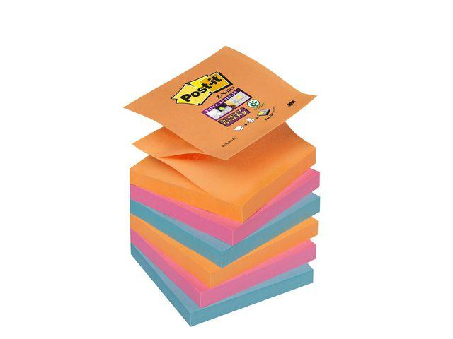 POST-IT SuperSticky Z-bl Glow 76x76mm 6st