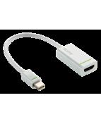 Kabel LEITZ MiniDP-HDMI Adapter Vit
