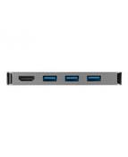 Targus Single Video Multi-Port Hub - Dockningsstation - USB-C