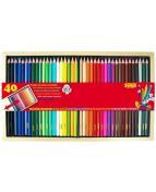 Färgpennor SENSE trälåda 40 färger