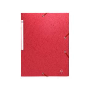Gummibandsmapp SCOTTEN 3-klaff A4 röd