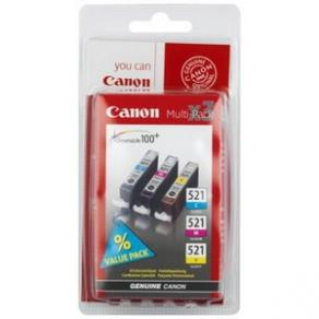 Canon CLI-521 Multipack - 3-pack - 9 ml - gul,