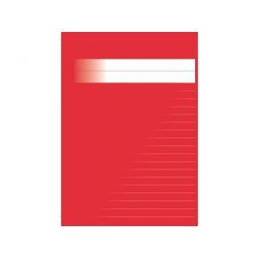 Skrivhäfte A5 linjerat 8,5mm röd