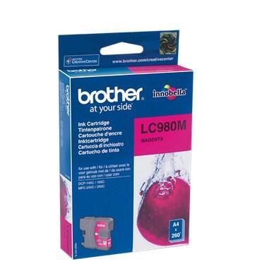 Bläckpatron Brother LC980M 260 sidor magenta