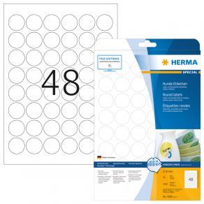 Etikett HERMA Movable rund Ø30mm 1200/F