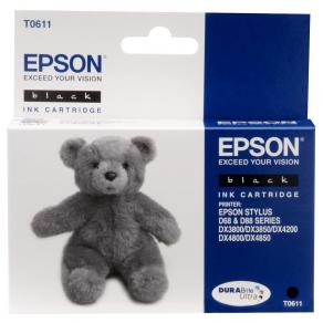 Epson T0611 - 8 ml - svart - original - blister