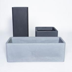 Kruka Milano Wide 27cm grå