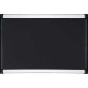 Anslagstavla Provision, textil, svart, aluminiumram, 900x600mm