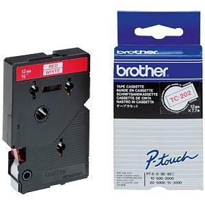 Brother TC tape 12mm red/white