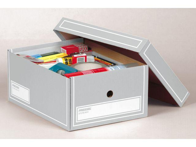 Arkivbox med lock A4 350x255x155mm, Grå, 10st