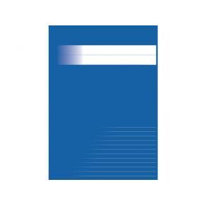 Skrivhäfte A4 1/2 sida linj 8,5mm blå
