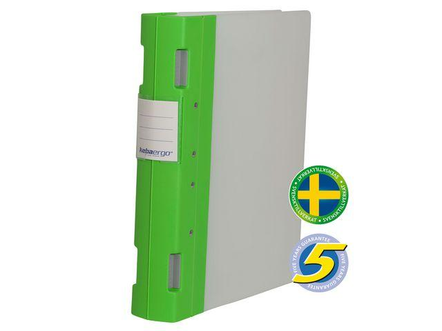 Gaffelpärm Plast KEBAErgo A4 Lime/Neutral, 55mm