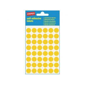 Etikett STAPLES 12mm gul 240/FP