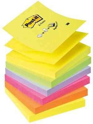 Post-it Z-Notes Neon Rainbow 6 block 76 mm x 76 mm