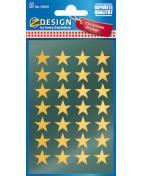 Stickers stjärnor guld 56/fp