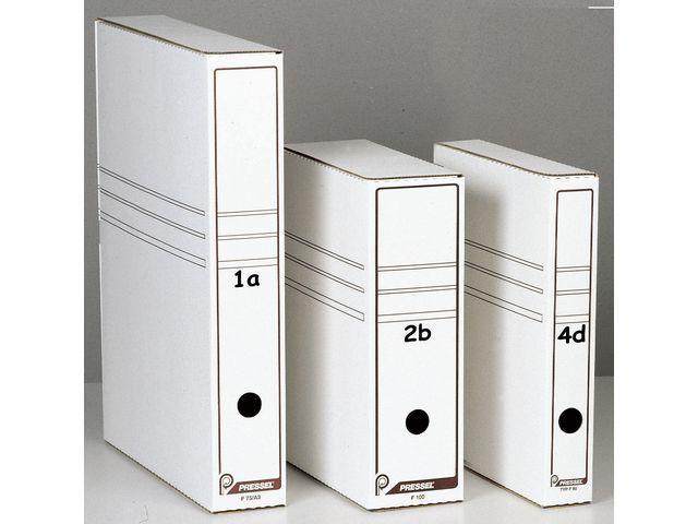 Arkivbox A4 Öppen långsida, 80mm, vit, 20st